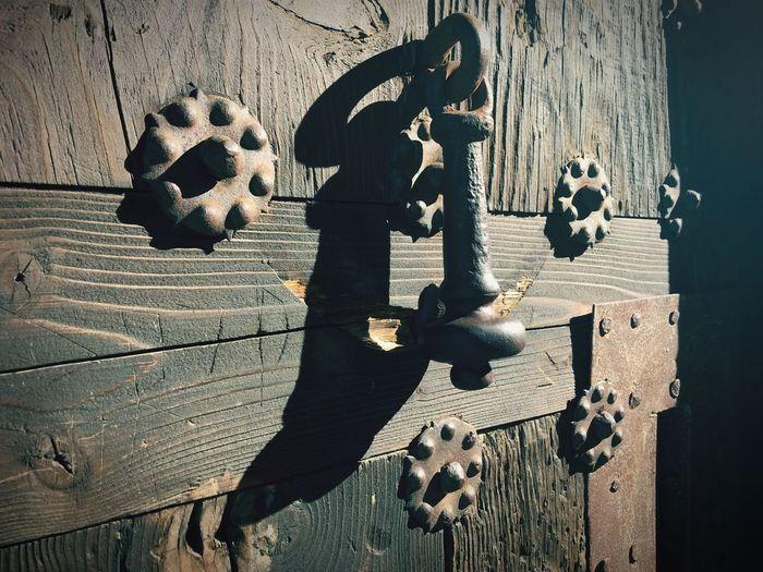 Door Wooden Door Door Knocker Entrance Behind The Door