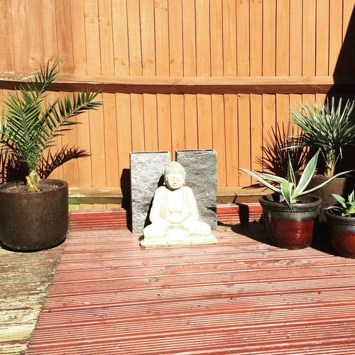Outdoors Statue Sculpture Southampton Springtime Woolston Buddhism