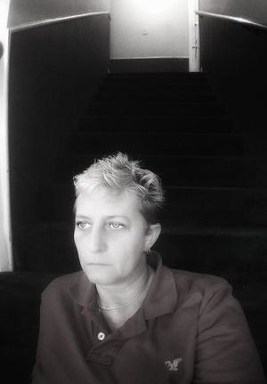 One Person Serious One Woman Only Headshot Portrait Silouette Visionary Eye Lgbt Staircase Dreaming Longing Sadness Alone Suicide Awareness