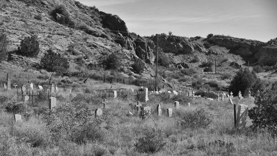 Monochrome Photography Graveyard, Mining Town Cemetery Mountain Old West  Mike Jeglic
