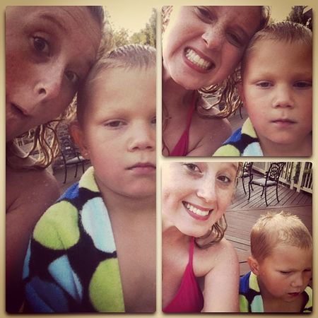 Swim time with the bro !! Someone had a loong day. Swimming Tired Babybro