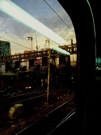 Trains And Station Transportation Railroad Track Rail Transportation Public Transportation Mode Of Transport Built Structure No People Architecture Day Building Exterior Outdoors Sky City