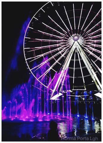 Wheel Of Fortune Colors Fontains Estrella De Puebla Puebla Mexico Taking Photos amo mi ciudad paseo nocturno sentimiento nostalgia soledad contrastes de la vida