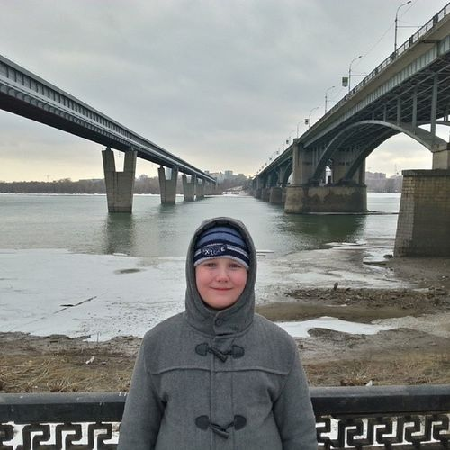 2014 -03-26, Новосибирск . Два моста и Гриша;)))/ Novosibirsk . Two Bridges and my son.