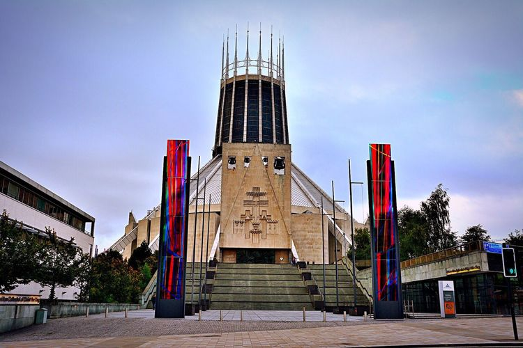 Cathedral Liverpool Liverpool Metropolitan Cathedral Church Religion Religious Architecture Religious  Architecture Stained Glass Stained Glass Window