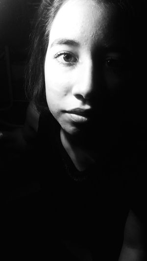 Monochrome Photography Girl Young Women Looking At Camera Indoors  Human Face Sad Eye