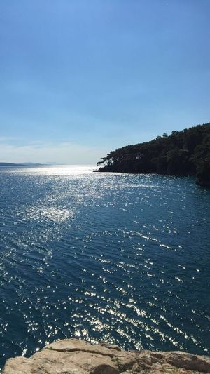 Sea Nature Tranquil Scene Scenics Tranquility Beauty In Nature Beach Water Outdoors No People Blue Sky Day Horizon Over Water Landscape Clear Sky Green Mountain Trees No Filter Akyaka
