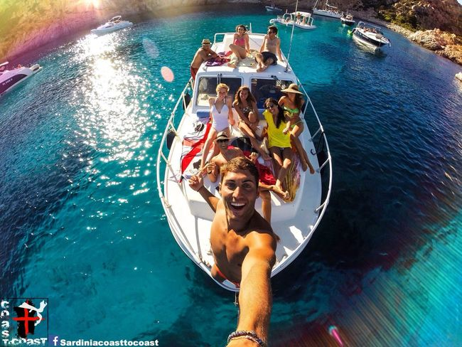 Friends Boats Girls Enjoying Life Summer Party Hot Today's Hot Look Sardinia Sardiniacoasttocoast