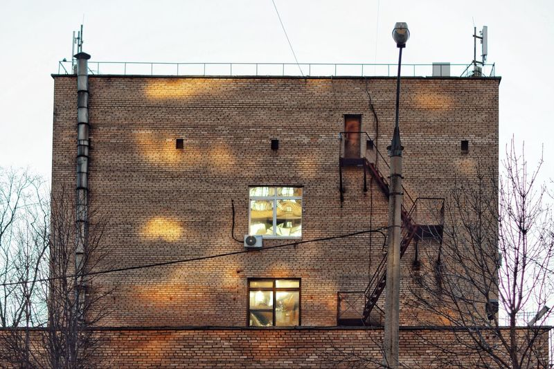 Architecture Built Structure Building Exterior Building Wall - Building Feature Wall No People Brick Sky Nature Brick Wall Window Lighting Equipment Residential District Outdoors Low Angle View House Day Safety Old