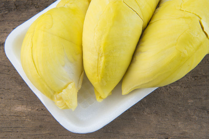 Close-up Durain Puff Durian Food And Drink Fruit Fruit Photography King Of Fruit Nature Table Thai Fruit Yellow