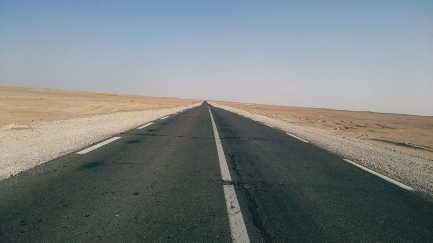 Route Algerian Desert Adrar Calm Meditation Hot Day
