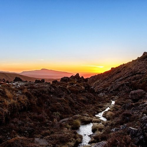 Searching for that moment. At the base of Mt Ngarauhoe at Tongariro National Park, shivering and waiting for the stars to come out. Travel Mountains Newzealand Natureseekers nature peace love landscape sunset dusk igdaily photography photooftheday photo aoteoroa tongariro ngarauhoe stream beauty beautiful