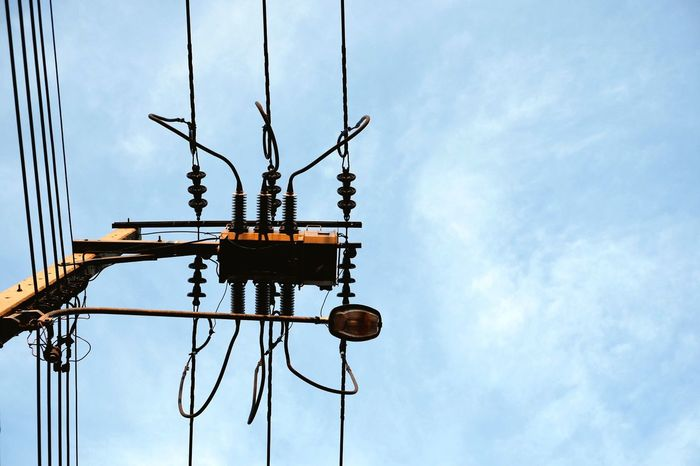 Electric Pole Electric Wires Power Line  Flying High