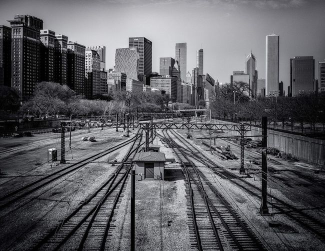 Railway tracks in chicago