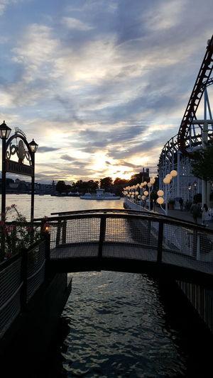 Cloud - Sky Bridge - Man Made Structure Sky Sea Sunset Water City Gröna Lund Stockholm Cloud Bridge Lights