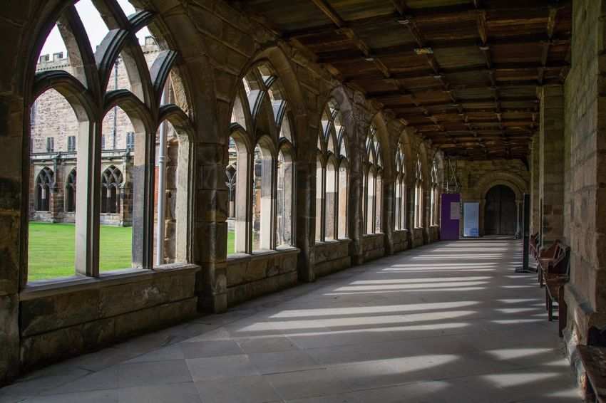 Cloisters  Arches Shadow And Light Shadow Shadows & Lights Durham Cathedral EyeEm Best Shots EyeEmBestPics Nikonphotography Eye4photography  Architecture Built Structure Arch Building Indoors  Day Arcade Direction The Way Forward Old The Past In A Row History Window