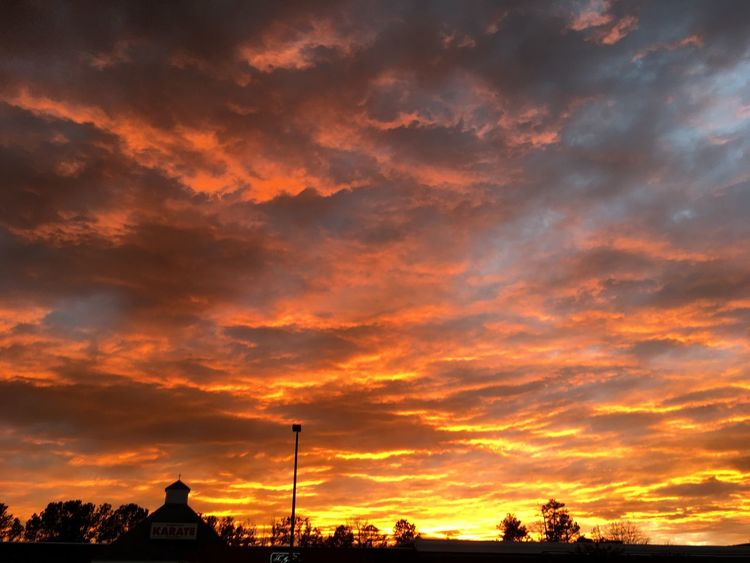 Enjoy The New Normal Beauty Seen From A Shopping Center Beauty Found Me ! Nature's Beauty!! No Filter Needed On A Sunset Sunset Sky Orange Color Beauty In Nature Cloud - Sky No People Nature Silhouette Scenics Outdoors Architecture
