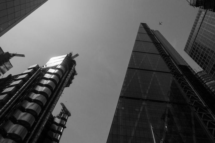 Lloyd's Building and Leadenhall Building Leadenhall Building Lloyd's Of London Architecture Building Building Exterior Built Structure Cheesegrater Building City Clear Sky Day Financial District  High Low Angle View Modern No People Office Office Building Exterior Sky Skyscraper Tall - High Tower Travel Destinations