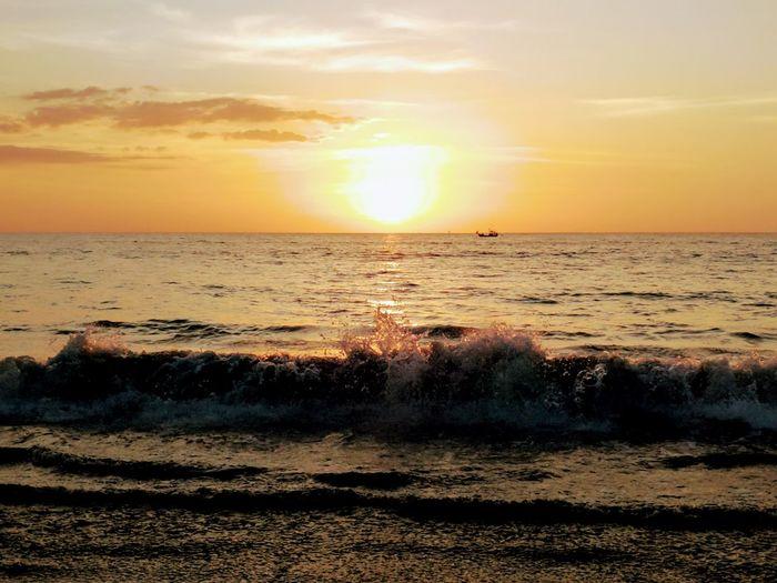 Beach Photography Sea And Sky Sunset Takuapa Waves, Ocean, Nature