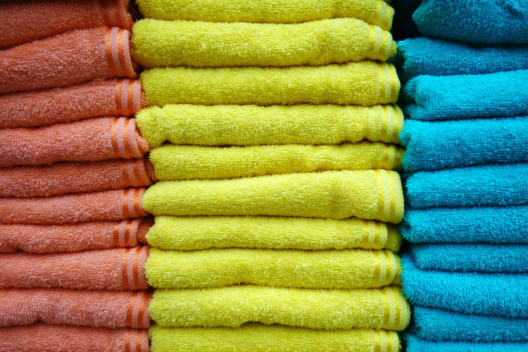 Detail shot of towels