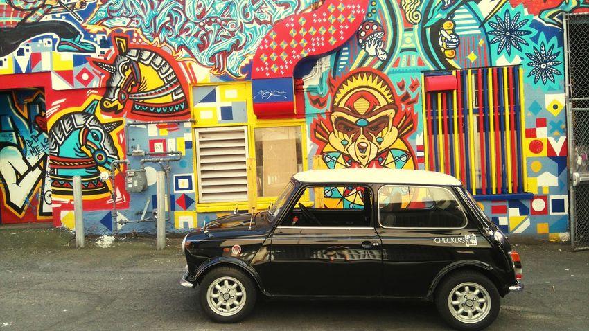Austin mini Graffiti Check This Out Hi! Taking Photos