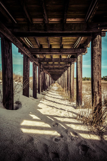 Architectural Column Architecture Beach Beach Photography Beachlife Beachphotography Built Structure Old Underneath