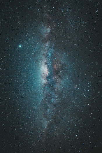 Low angle view of stars in sky milkyway