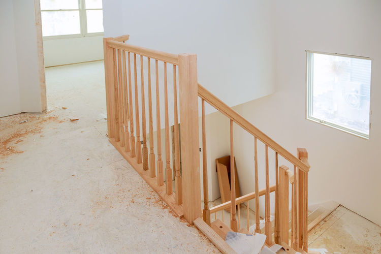 Staircase of building at home