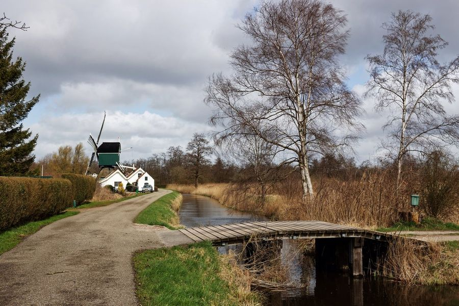 Same Windmill Different Angle Wandering In The Field Dutch Landscape Windmill Bridge Landscape_photography
