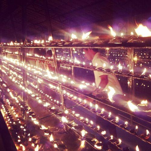 Kandy Toothtemple Buddhists SriLanka Oillamps SriLanka
