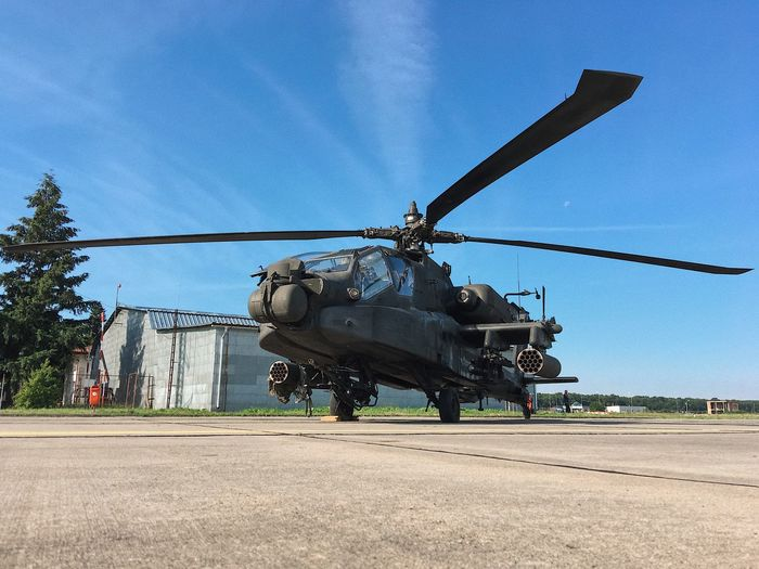 Ready for combat... Commando Enforcement Gun Military Aircraft Apache Helicopter Apache Air Transportation System Air Force ShotOnIphone Weapon War Aircraft Transportation Military Sky Mode Of Transportation Nature Helicopter Day Air Vehicle Army Motion Government Fighting Armed Forces Business Propeller Outdoors Clear Sky