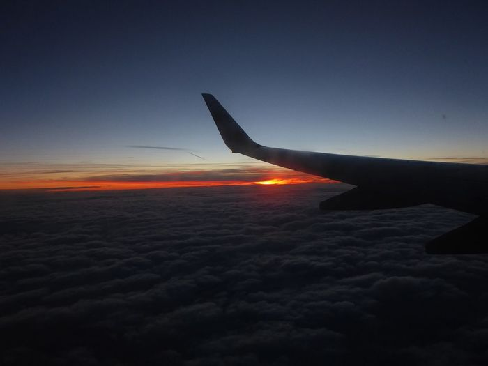 above the clouds, yesterday at 4:37 pm😍😍😍 Back Home For My Friends 😍😘🎁 Back Home Again Home Is Where My🧡is PricelessMoment Mood Captures Sundown Above The Clouds Lucky Me🦄 Happy Moment♥ Unique Beauty Unique Perspectives In Heaven Memories ❤ Beauty In Nature Simple Beauty Simple Photography Soo Thankful über Den Wolken.. Gestern Um 16.37Uhr Airplane Flying Air Vehicle Aircraft Wing Sunset Aerial View Technology Sky Travel Capture Tomorrow
