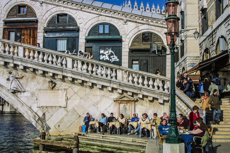 Rialto Brücke Venedig, Ohne Touristen, Lagune, Frühling, Venice, WithoutTourists, Springtime, City, Sea, Water, Historical, Old Town Architecture City Day Large Group Of People Outdoors People EyeEmNewHere