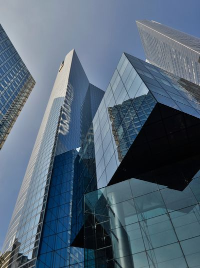 Architecture Building Building Exterior Built Structure City Clear Sky Day Finance Financial District  Glass - Material Low Angle View Modern No People Office Office Building Exterior Reflection Sky Skyscraper Tall - High Tower