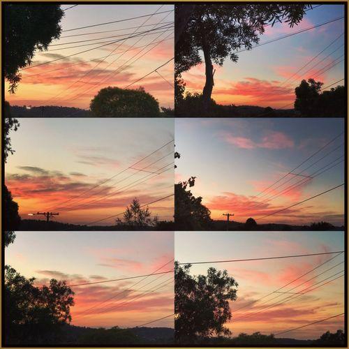 Beautiful night 💜☀️💚 Sunset Collage Beautifulskies Orange Sky Tranquility Street Nature Powerlines Eyeemphotography 🍃☀️🍃
