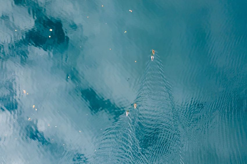 Water High Angle View Water Aerial View Nature Sea Sport Scenics - Nature Beauty In Nature Day Outdoors Land Environment Tranquility Landscape