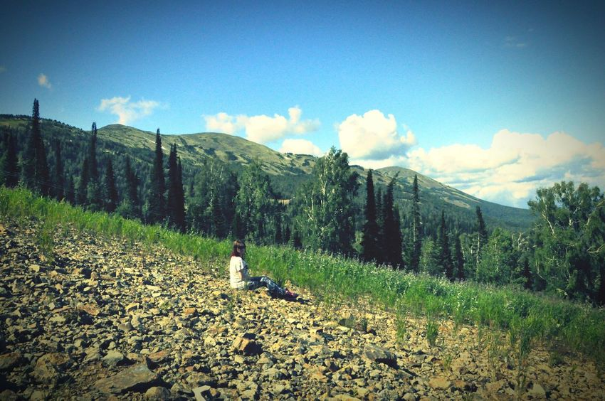 Summer2015 High Mountain View Peace And Quiet Sunshine Russia Sky