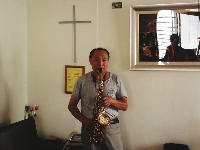 My Father Saxophone Play Music In The Morning My House♥ He Ask
