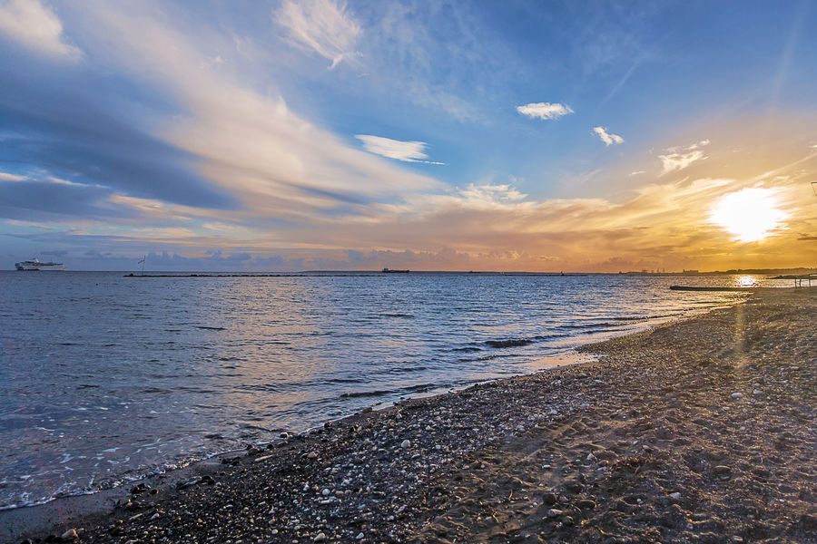 Beach Beauty In Nature Cloud - Sky Clouds And Sky Colourful Clouds Cyprus EyeEm EyeEm Nature Lover EyeEm'ing While Drunk Horizon Over Water Landscape Landscape_Collection Landscape_photography Limassol Nature Nature_collection Outdoors Reflection Sand Scenics Sea Sky Sunny Day Sunset Water