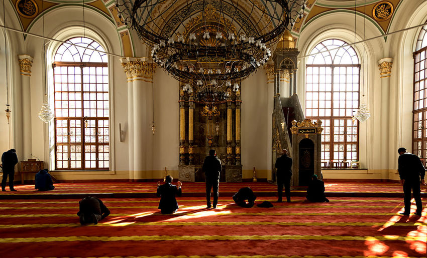 People Praying In Mosque