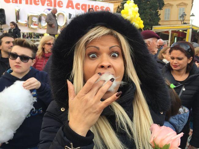 Adult Adults Only Carneval Crowd Eating Girl Group Of People Night Nightlife Outdoors People Selfie Sugar