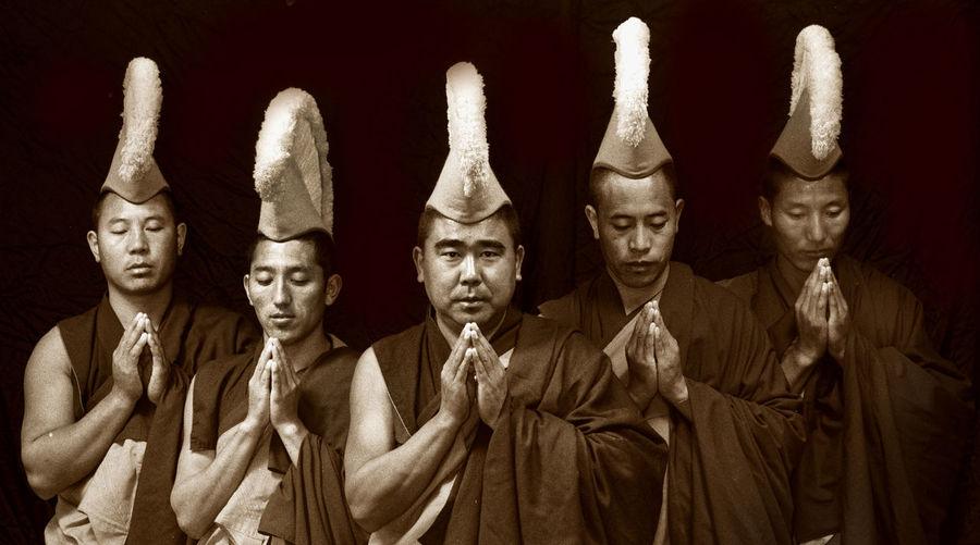 Gyuto Monks of Tibet Black Background Budda Contrasts Gyuto Monks Of Tibet Men People Tibet Tibetan Buddhism Tourism Travel Travel Destinations Vivid International