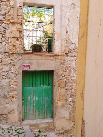 Emerald door Ibiza Old Door Green Emeraldgreen Old Town Dalt Vila SPAIN Doors Of Ibiza