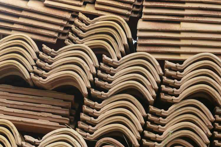 Ceramic tiles stacked and ready to be used on construction site