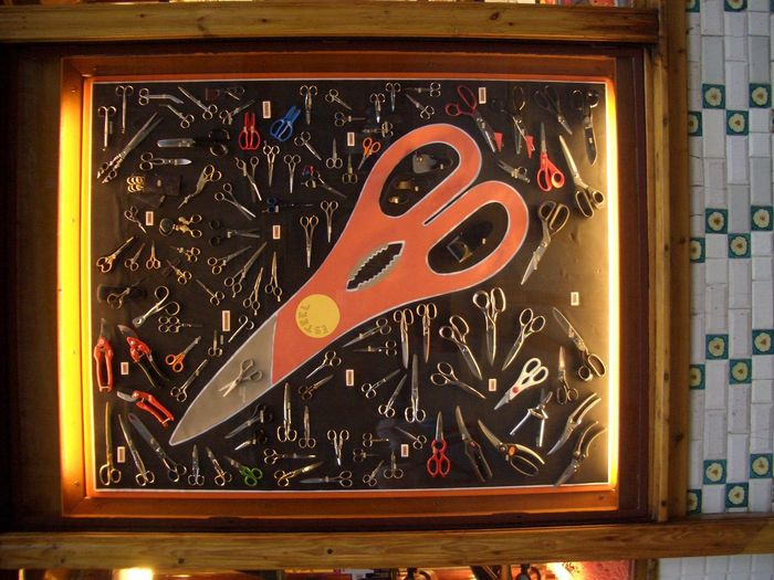 Barcelona, Spain Barcelona Scissors Unique Strange Shops Shopping!  Shop Window Art Shop Display