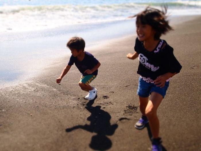 Beach Running Children