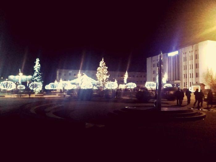 Christmas Christmas Decoration Night Illuminated Celebration Christmas Tree City