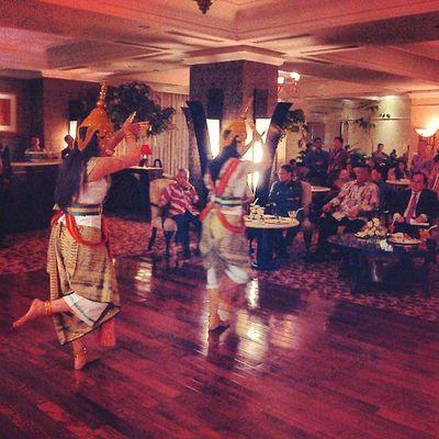 Pertunjukan tari tradisional Thailand di Hotel Papandayan Bandung , dalam acara Thai Food and Cultural Festival dihadiri oleh Wakil Gubernur Jawa Barat Wagub Jabar Dedi Mizwar Thailand