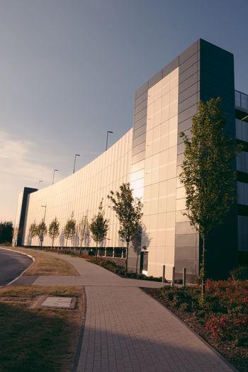 Achitecture Building Exterior Footpath Modern Office Office Building Exterior Plant Sunset Tree