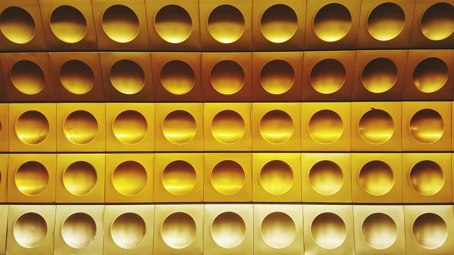 Pivotal Ideas Palette Yellow Light Yellow Dark Yellow Contrast Geometric Shapes Circles Circular Circles In Circles Colors Square Praha Praha2016 Metro Station Metro Metropolitan Color Palette Beautiful Organized Paint The Town Yellow The Graphic City
